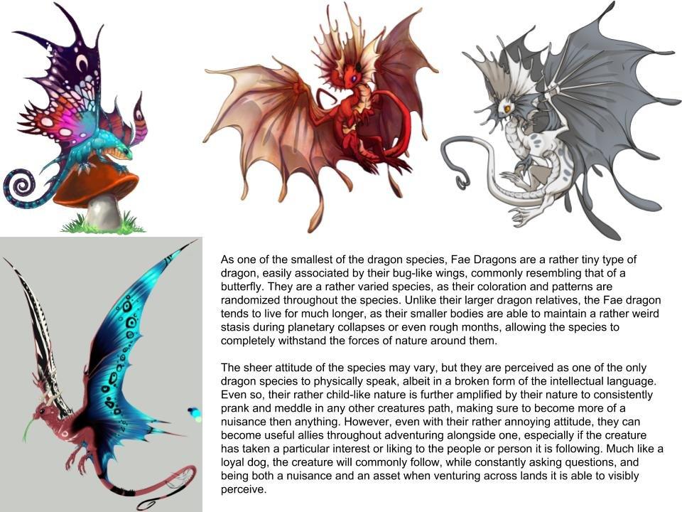 Fae Dragons (Dragon subspecies)