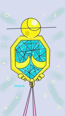Selenit Saturn (Sailor Moon) Brooch Season 1 pr.jpg